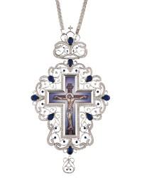 Επιστήθιος Σταυρός Επάργυρος Ασημένιος (925) Μεγάλος (ΣΤ05)