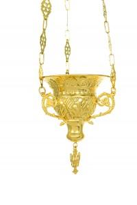 Κανδήλα Βυζαντινή Κρεμαστή Επίχρυση (111-61G)