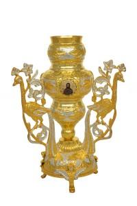 Κανδήλα Αγίας Τραπέζης Παγώνια Δίχρωμη (Εικόνες Πορσελάνη)(113-26)