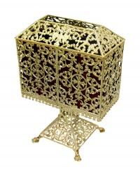 Κουτί Αποκέρων Ορειχαλκωμένο Μεγάλο (178-00)