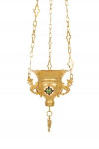 Vigil Lamps  Byzantine Carved Νο1 Enamel (111-01SM)