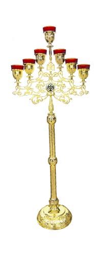 Επτάφωτος Λυχνία Κολώνα Επίχρυση (117-11)