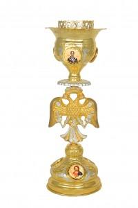 Κανδήλα Αγίας Τραπέζης Βυζαντινή Νο2 Δίχρωμη Εικόνες Πορσελάνη (113-21)