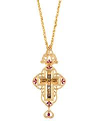 Επιστήθιος Σταυρός Επίχρυσος Ασημένιος (925) (ΣΤ01)