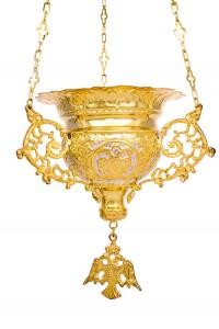 Κανδήλα Βυζαντινή Σκαλιστή Νο5 Δίχρωμη (111-05D)