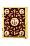 Gospel Velvet Blue Gold- Embroidered Images 102-73(2)