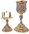 Δισκοπότηρο Ρώσικο Σμάλτο(4 Εικόνες) Ασημένια Κούπα(103-00icon)