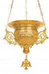 Κανδήλα Βυζαντινή Σκαλιστή Νο6 Δίχρωμη (111-06)