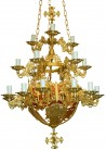 Chandelier 22F Patina (230-11)